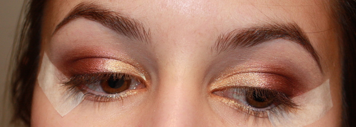 Gold And Purple Eyeshadow Tutorial Shameless Fripperies