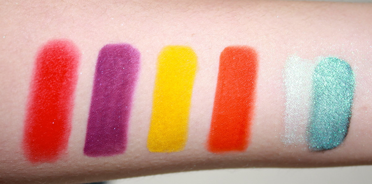 Sugarpill Burning Heart Quad- Comparisons