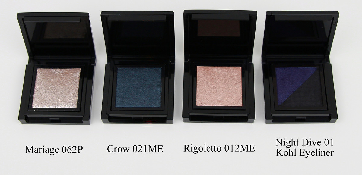 Kose Addiction Eyeshadow and Eye Kohl (Mariage, Crow, Rigoletto and Night Dive)