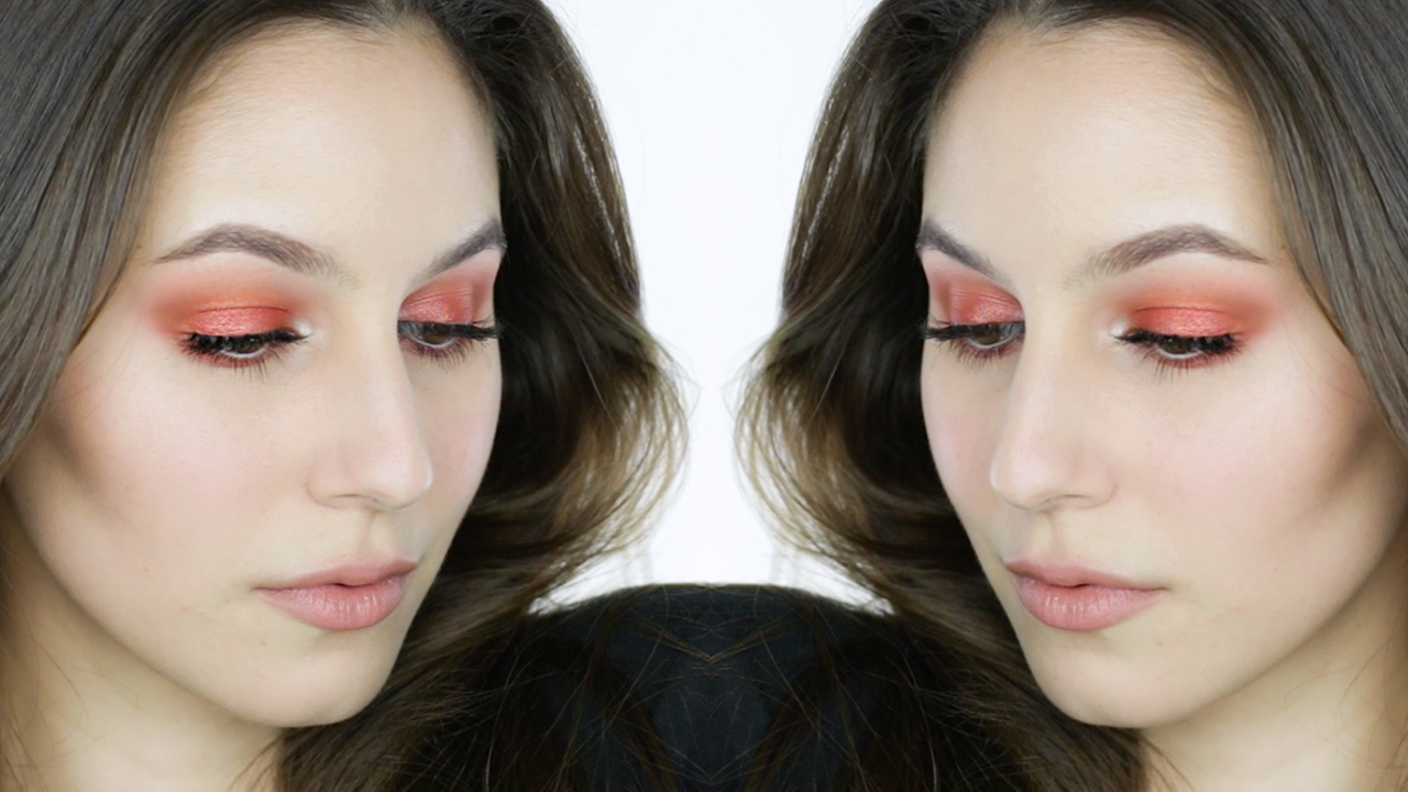 Blown-Out Orange Eye Makeup Tutorial