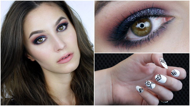 Birthday Makeup – Purple Glitter Eye