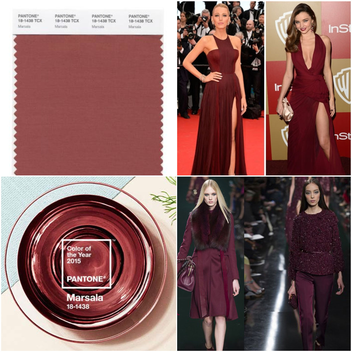 Pantone Marsala for Eyes & Lips
